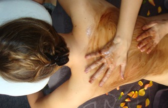Schoko, Massage, Entspannung